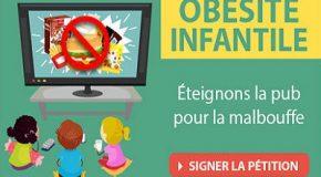 Obésité infantile – Éteignons la pub pour la malbouffe !